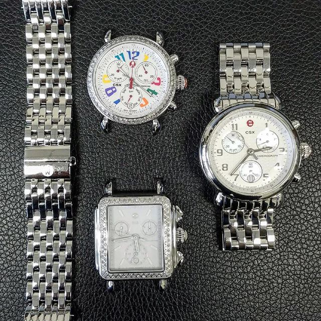 Michele watch repair, overhaul, watch case and bracelet polishing. #watchrepair