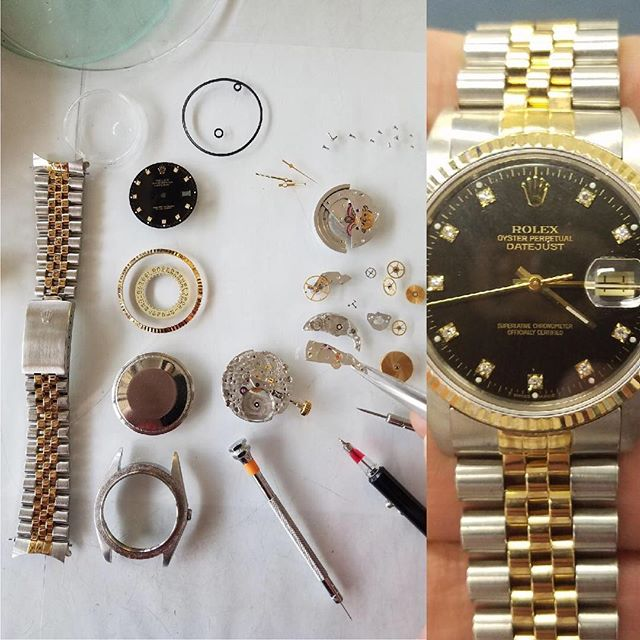 Rolex Oyster Perpetual Datejust Overhaul and Repair #watchrepair