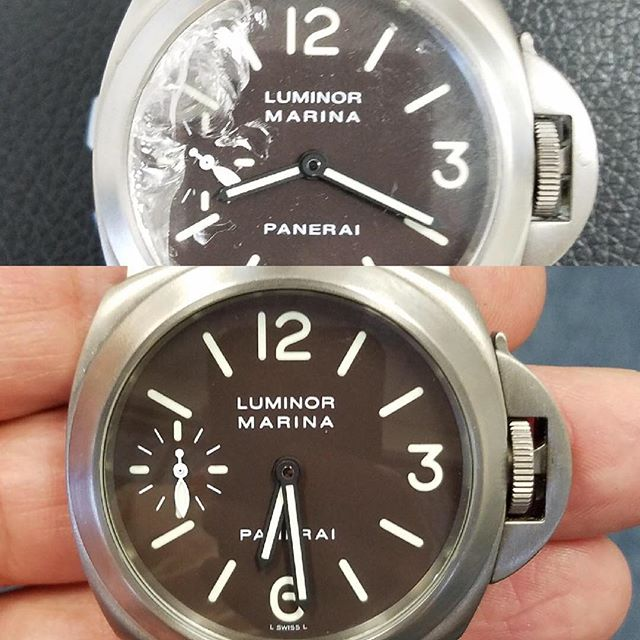 Panerai Luminor Marina Watch Crystal Replacement #watchrepair