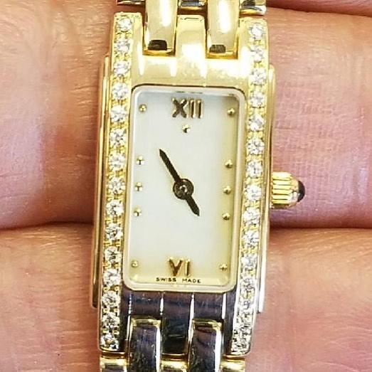 Swiss Diamond Gold Watch Repair #watchrepair