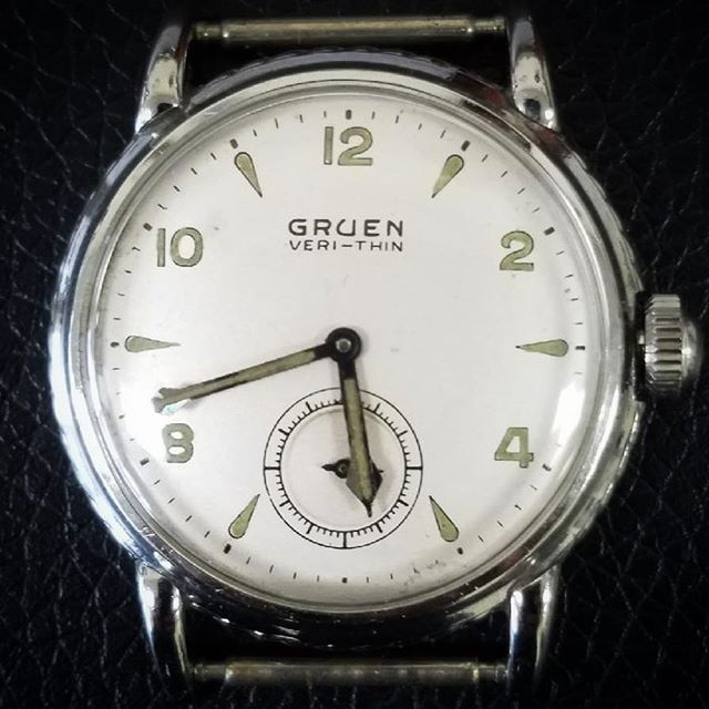 Vintage Watch Gruen Veri-Thin Overhaul and Repair #watchrepair