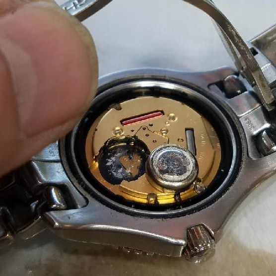 Watch Battery Leak! Replacement Time! #watchrepair