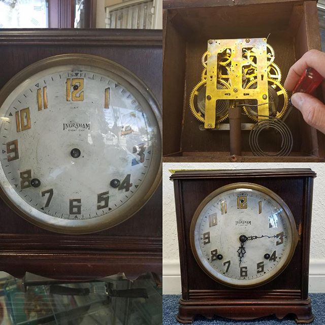 120 Year Old Antique Ingraham Clock Repair #clockrepair #watchrepair