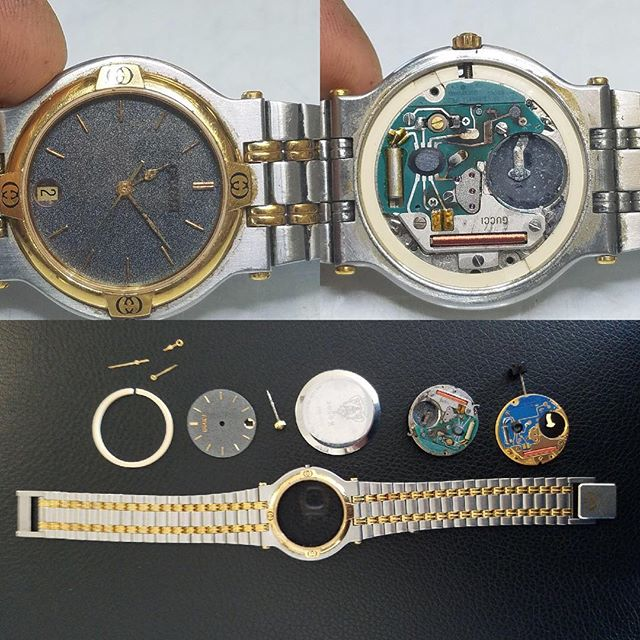 Rusty Gucci Watch Movement Replacement #watchrepair