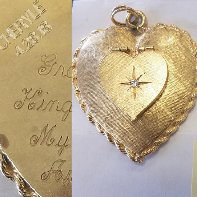 Gold Jewelry Engraving #watchrepair