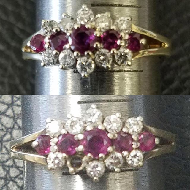 Diamond Ring Stone Replacement #jewelry #watchrepair